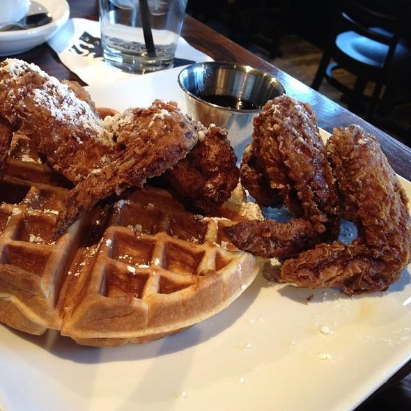 Chicken and Waffles - MAX's Wine Dive Dallas - McKinney Ave., Dallas, TX