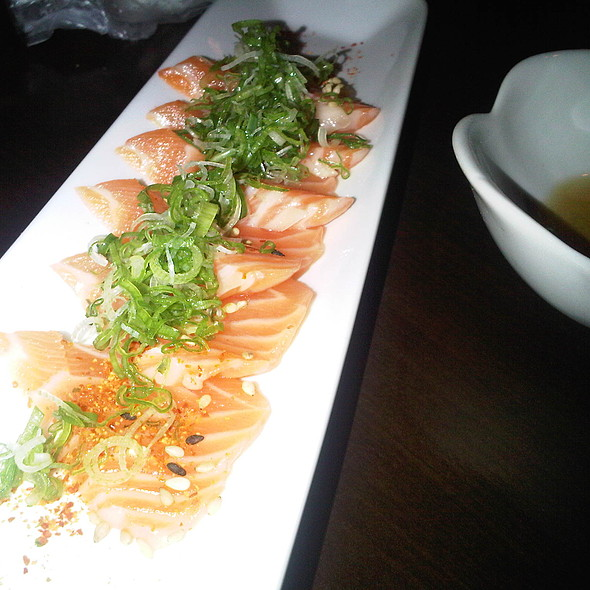 Salmon sashimi with sesame sauce  - Fin Izakaya, Toronto, ON