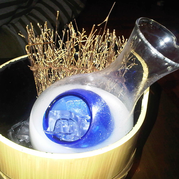 'Moonstone' Coconut Lemongrass Nigori (Unfiltered Sake) - Fin Izakaya, Toronto, ON