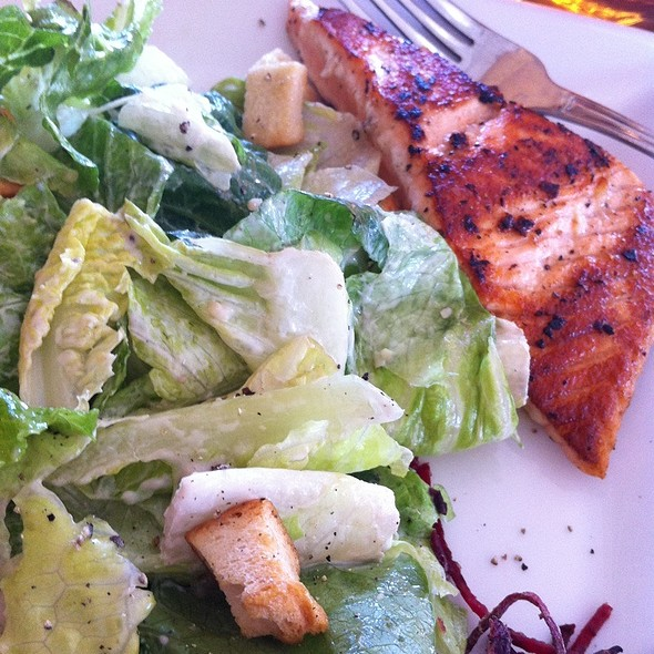Salmon and salad - Sole Mio, Nashville, TN
