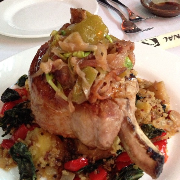 10 Oz Pan Roasted Pork Chop With Quinoa, Apples And Fall Vegetables - James' Beach, Venice, CA