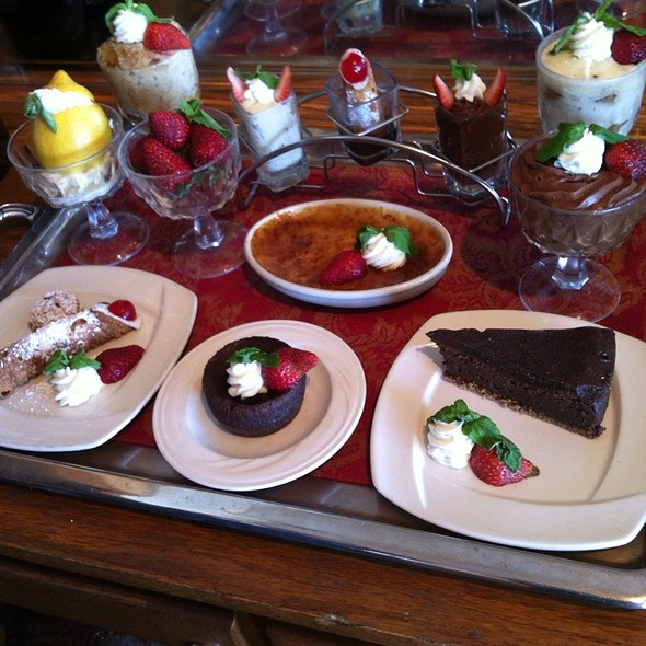 Dessert tray - Domenico's on the Wharf, Monterey, CA