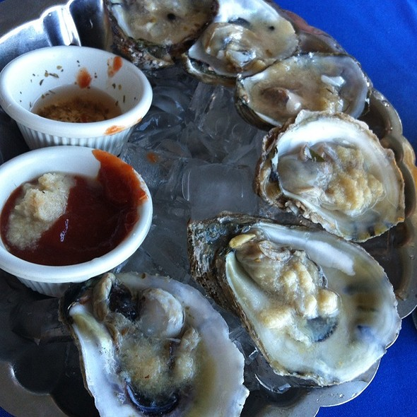 Blue Point Oysters - Domenico's on the Wharf, Monterey, CA