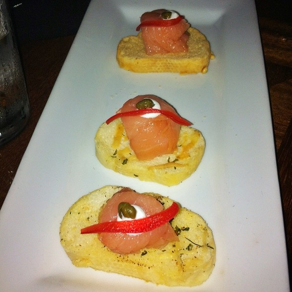 Salmon Crostini - Hearsay Market Square, Houston, TX