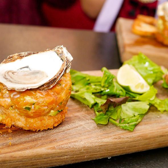 Salmon Tartare with Oyster - Confusion Tapas du Monde, Montréal, QC