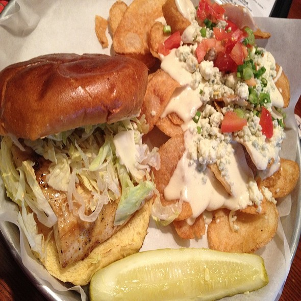 Grilled Mahi Sandwich With Gorgonzola Chips - McCray's Tavern on the Square, Lawrenceville, GA