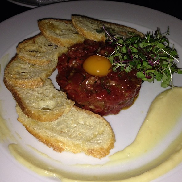 Beef Tartare With Quail Egg And Garlic Aioli - Blink Restaurant, Calgary, AB