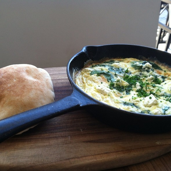 Spinach and Feta Omelette - Momed - Beverly Hills, Beverly Hills, CA