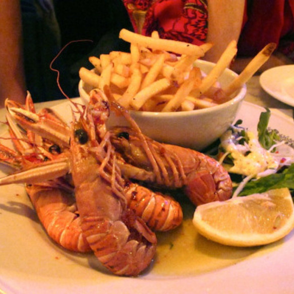 Roasted Langoustine with garlic butter - Randall & Aubin, London