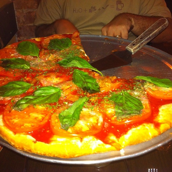 Tomato And Basil Pizza - Patzeria Family & Friends, New York, NY