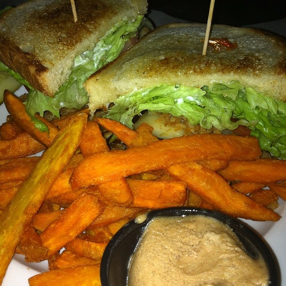 Meatloaf Sandwich With Sweet Potato Fries - The Old Fourth Street Filling Station, Winston-Salem, NC