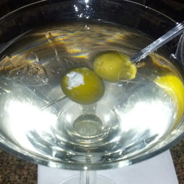 Dirty Martini With Blue Cheese Olives - Chart House Restaurant - Golden, Golden, CO