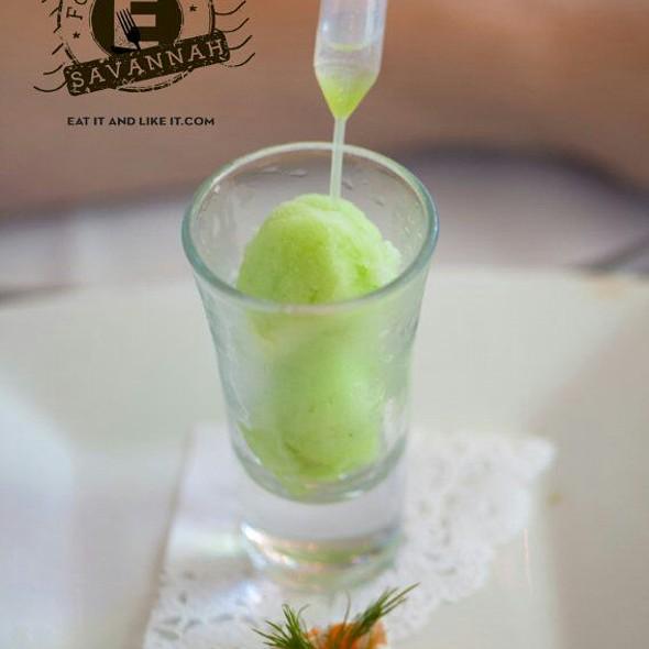 Cucumber Sorbet - The Olde Pink House Restaurant, Savannah, GA
