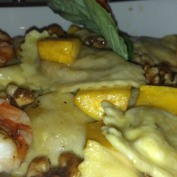 Autumn Ravioli And Grilled Shrimp - Chart House Restaurant - Golden, Golden, CO
