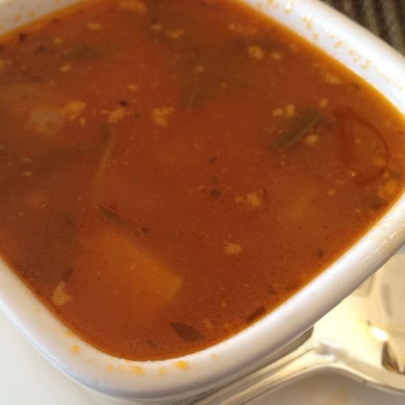 Potato, Sausage & Arugula Soup - Harvest at The Hotel Hershey, Hershey, PA