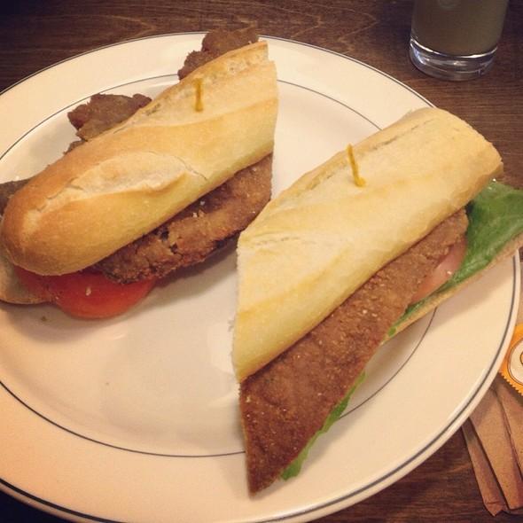 Milanesa Sandwich (Beef) - Clos Bistro & Cafe, Miami, FL