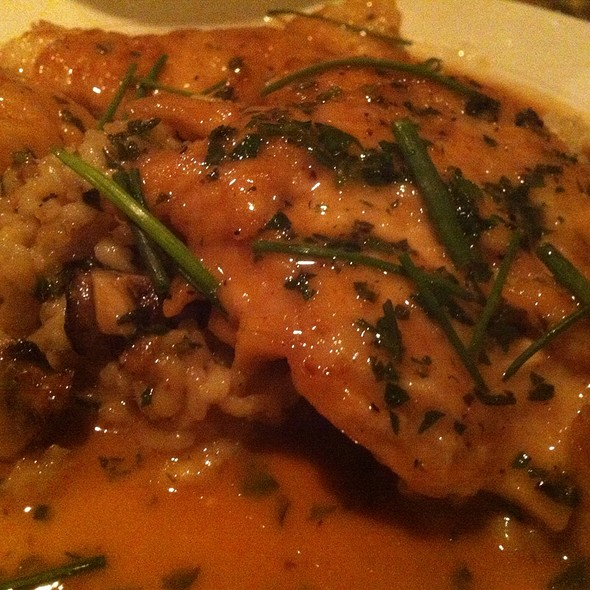 Chicken Marsala With Wild Rice And Mushrooms - Venezia Restaurant, Boston, MA