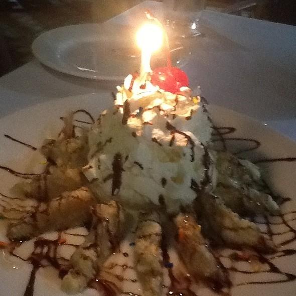 Tempura Banana Ice Cream Dessert - Oishi Thai, North Miami, FL
