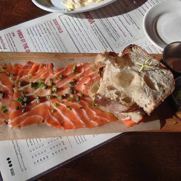 Citrus-cured Salmon, Cucumber, Crema And Toast - Café Ba-Ba-Reeba, Chicago, IL