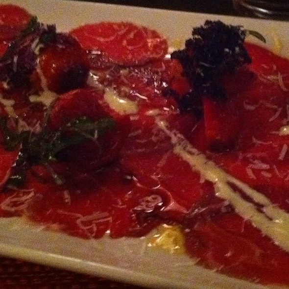 Beef Carpaccio, Roasted Beets, Bleu Cheese Fondue - Hodge's, Cleveland, OH