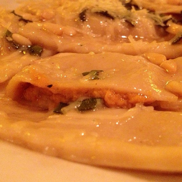 Pumpkin And Goat Cheese Ravioli (Filling) - Bravo! Restaurant and Cafe, Kalamazoo, MI