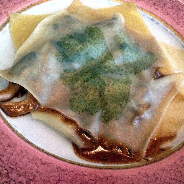 Wild Forrest Mushroom Ravioli With Mushroom Brandy Sauce - Pamplemousse Grille, Solana Beach, CA