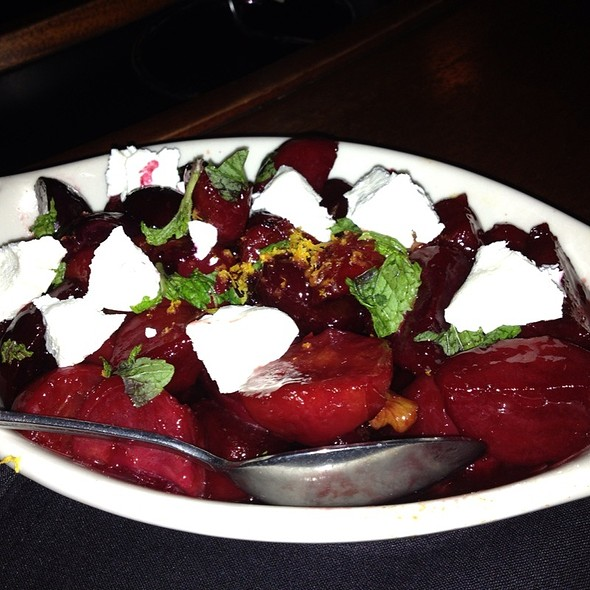 Salt-roasted beets with Whipped Goat Cheese And Pistachio Vinaigrette - Eddie V's - Arboretum, Austin, TX