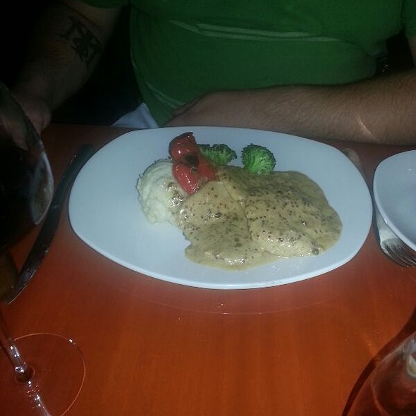Pork Scallopini With Peppercorn Cream And Dijon Mustard Sauce - Il Buco, Barrie, ON