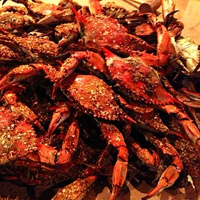 Steamed Maryland Blue Crabs - Jimmy's Famous Seafood, Baltimore, MD