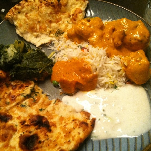 Chicken Tikka Masala, Aloo Palak, Garlic Naan, Raita.  - Passage to India - Bethesda, Bethesda, MD