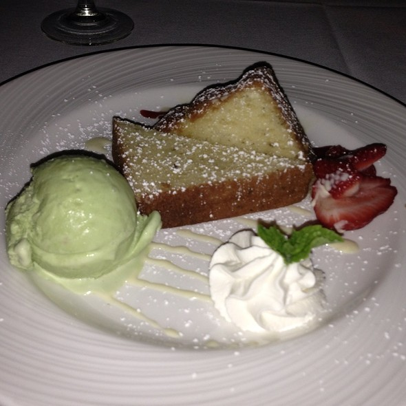 Lemon Pound Cake And Basil Ice Cream - Copley's on Palm Canyon, Palm Springs, CA