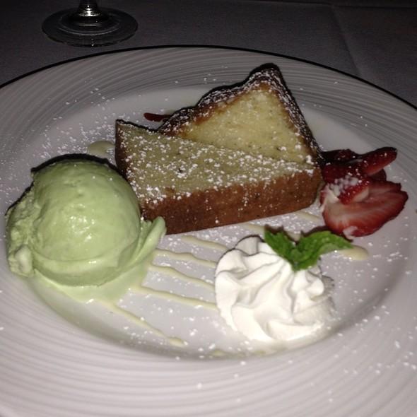 Lemon Pound Cake And Basil Ice Cream - Copley's on Palm Canyon, Palm Springs, CA