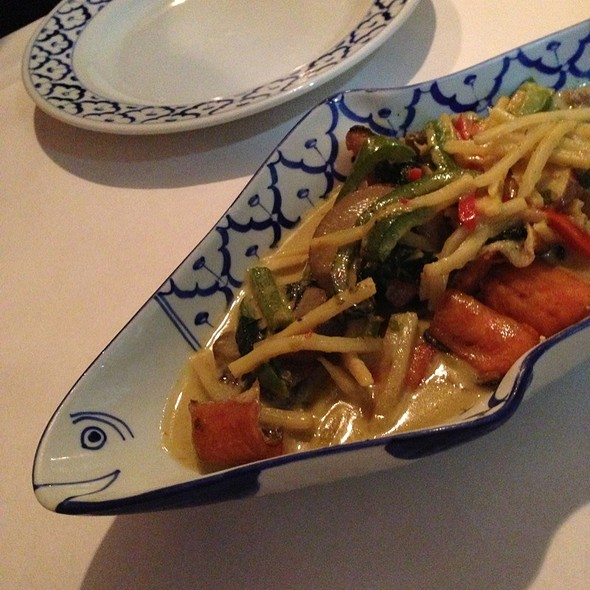 Green Curry Trout With Eggplant - Addie's Thai House, Chesterfield, MO