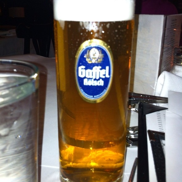 Gaffel Kölsch - Docks Oyster Bar and Seafood Grill, New York, NY