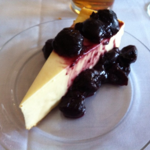 Cheesecake With Blueberries - Mill Pond Steakhouse, Rembert, SC