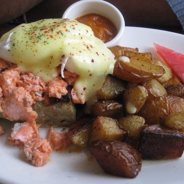 salmon eggs benedict - Tilikum Place Cafe, Seattle, WA