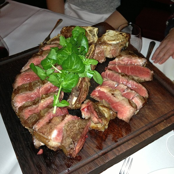 porterhouse steak - Dean Street Townhouse, London