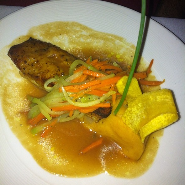 Pan Seared Black Jack Grouper with Brown Butler Oysters - Ortanique on the Mile, Coral Gables, FL