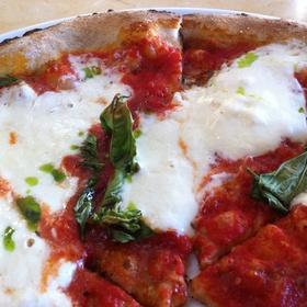 Margherita Pizza with Burrata - Olio Pizzeria, Santa Barbara, CA
