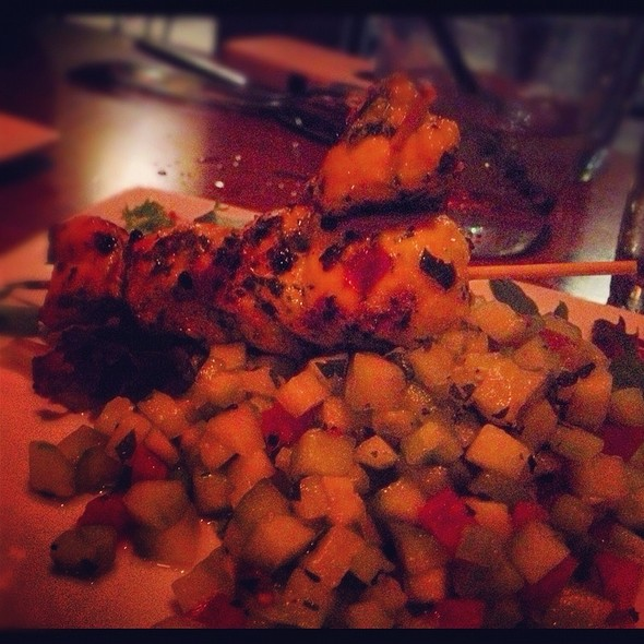 Citrus Marinated Chicken Skewers - Medina Oven & Bar, Dallas, TX