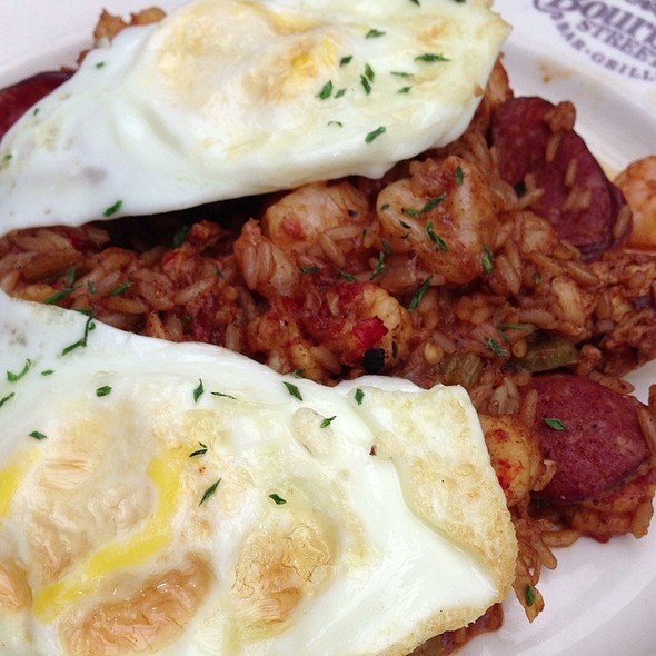 Cajun Fried Eggs - Bourbon Street Bar & Grill, New York, NY