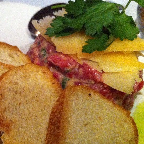 steak tartare - Central Park Bistro, San Mateo, CA