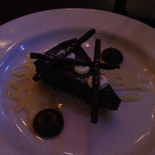 dark chocolate ganache tart - The Brewer's Art, Baltimore, MD