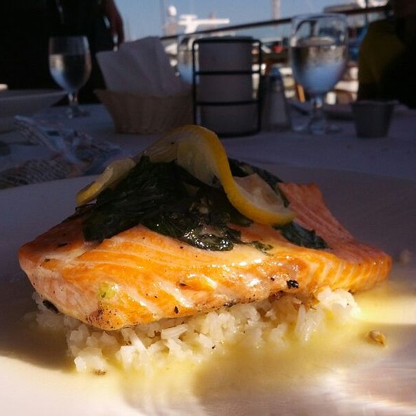 Spinach Stuffed Salmon - Rusty Pelican Restaurant, Newport Beach, CA