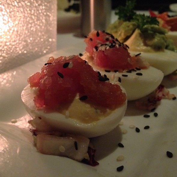 Ahi Tuna Deviled Egg - Nick & Sam's Steakhouse, Dallas, TX