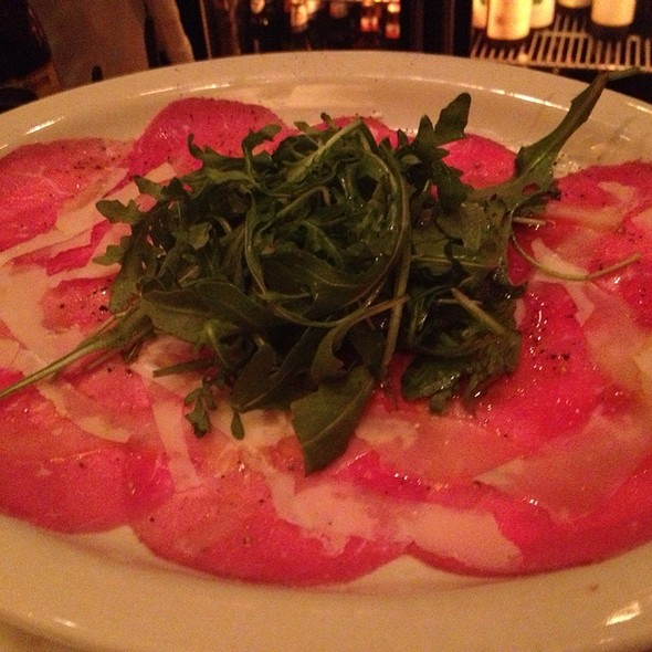 Organic Beef Carpaccio With Local Arugula, Horseradish Aioli And Shaved Parmesan - Bottega, Birmingham, AL