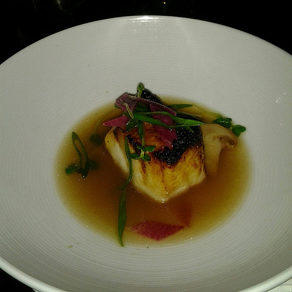 Miso-Glazed Sea Bass │ Maitake Mushrooms, Dashi Broth  - Bourbon Steak by Michael Mina - Miami, Aventura, FL