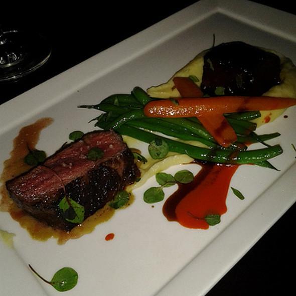 Duo of Prime Beef │ Glazed Short Ribs, New York Strip, Hudson Valley Foie Gras,  - Bourbon Steak by Michael Mina - Miami, Aventura, FL
