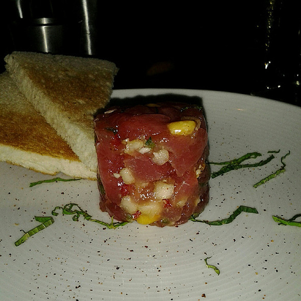 Ahi Tuna Tartare │ Ancho Chile, Bosc Pear, Sesame Oil - Bourbon Steak by Michael Mina - Miami, Aventura, FL