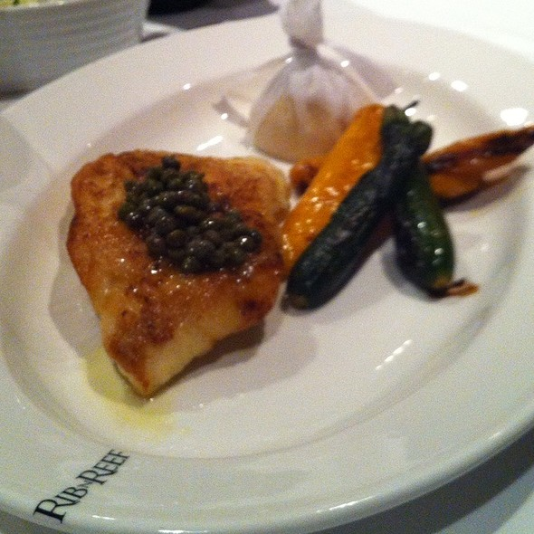 Halibut Fish With Capres  - Rib n Reef Steakhouse, Montréal, QC